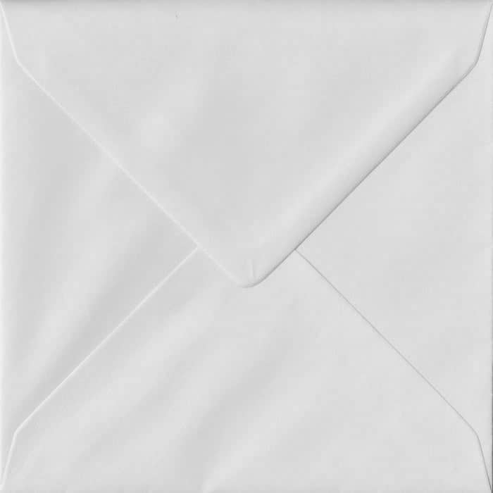 White S4 155mm x 155mm Gummed Square Colour Envelopes