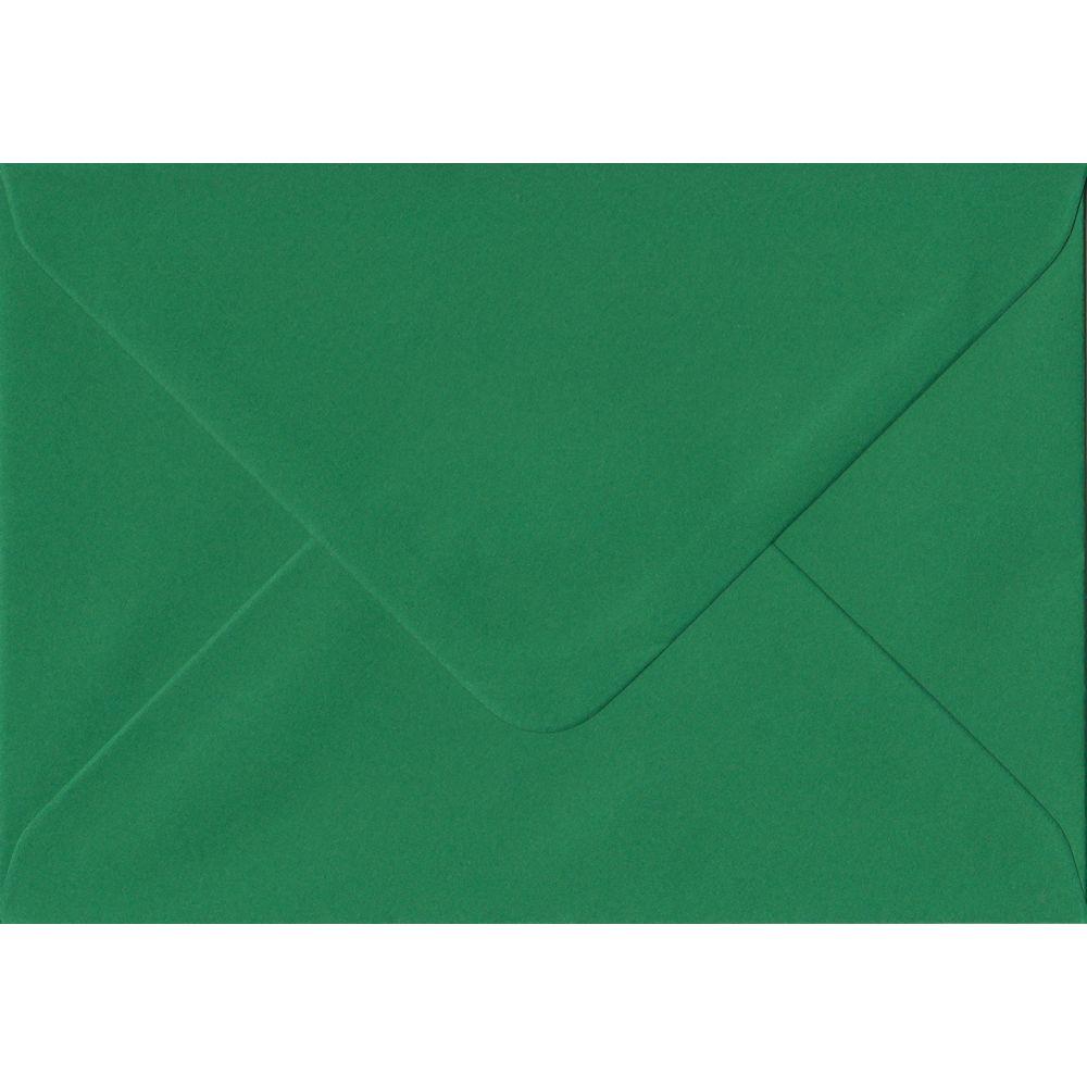 Xmas Green C6 114mm x 162mm Gummed Coloured A6 Card Envelopes