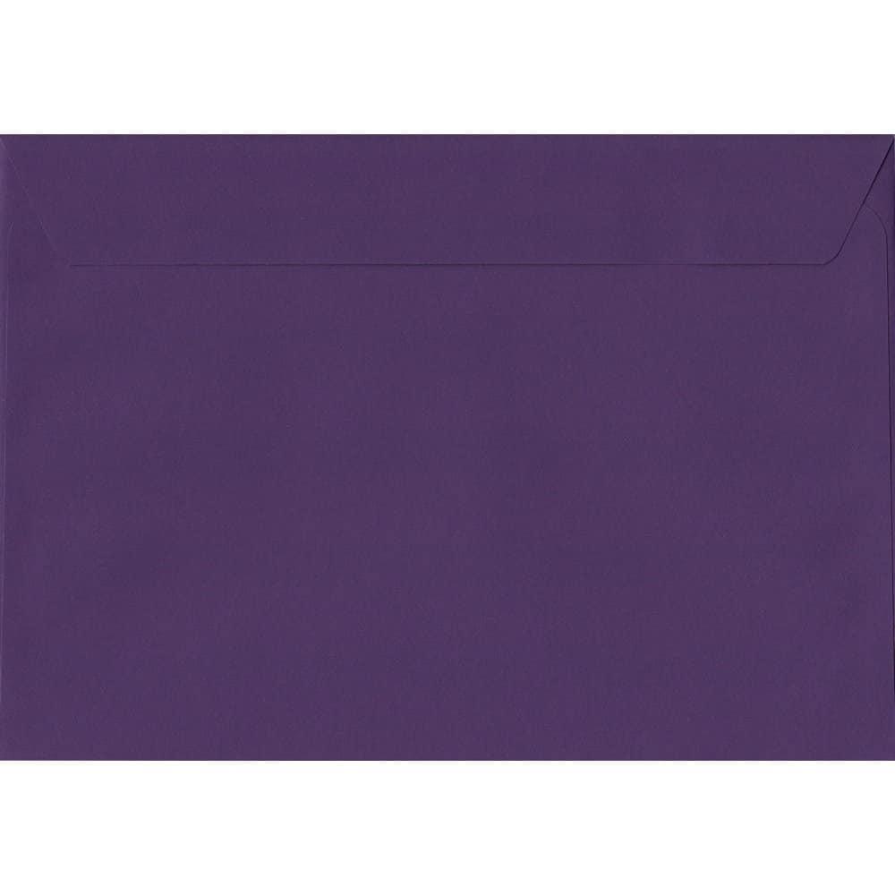 50 C4/A4 Purple Envelopes. Blackcurrant. 229mm x 324mm. 120gsm paper. Extra Value MultiPack.