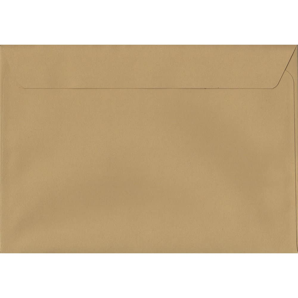50 C4/A4 Beige Envelopes. Biscuit Beige. 229mm x 324mm. 120gsm paper. Extra Value MultiPack.