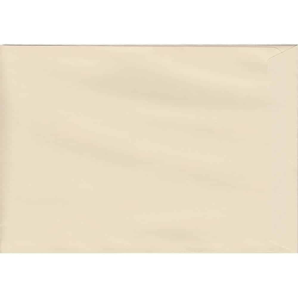 50 C4/A4 Cream Envelopes. Clotted Cream. 229mm x 324mm. 120gsm paper. Extra Value MultiPack.