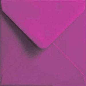 100 Small Square Pink Envelopes. Dark Pink. 130mm x 130mm. 100gsm paper. Extra Value MultiPack.