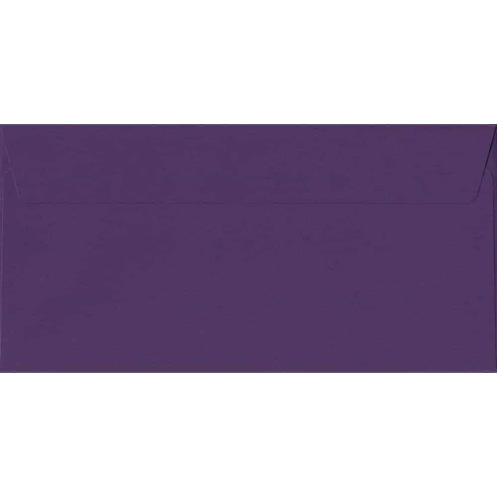 100 DL Purple Envelopes. Blackcurrant. 110mm x 220mm. 120gsm paper. Extra Value MultiPack.