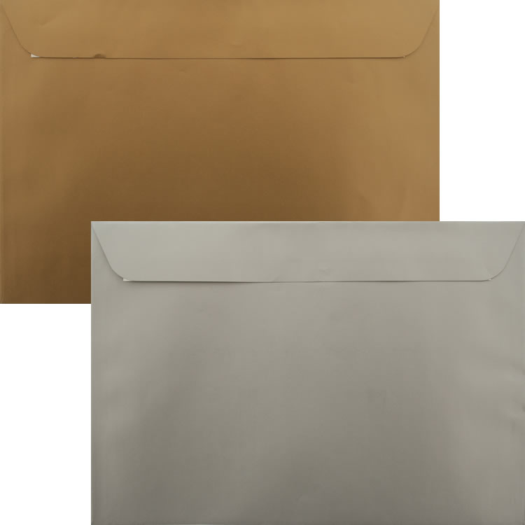Premium Awards Pack Of 50 Gold And Silver C4 Peel/Seal 120gsm Luxury Envelopes