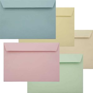 Premium Pastel Pack Of Peel And Seal C5 120gsm 162mm x 229mm Envelope