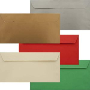 Premium Xmas Pack Of 50 Xmas DL Peel/Seal Luxury 120gsm Envelopes