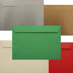 Premium Xmas Pack Of 50 Xmas C5 Peel/Seal Luxury 120gsm Envelopes