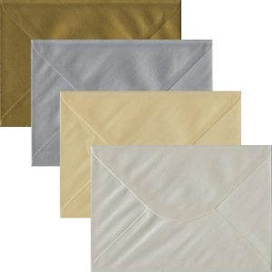 Metallic Pack Of 100 C5 Gummed Envelopes In Four Metallic Colours
