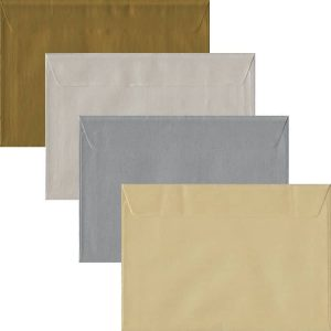 Metallic Pack Of 100 C5 Peel/Seal Envelopes In Four Metallic Colours