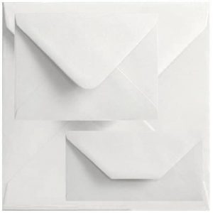 Box Of 1000 60mm x 90mm White Gummed Envelopes