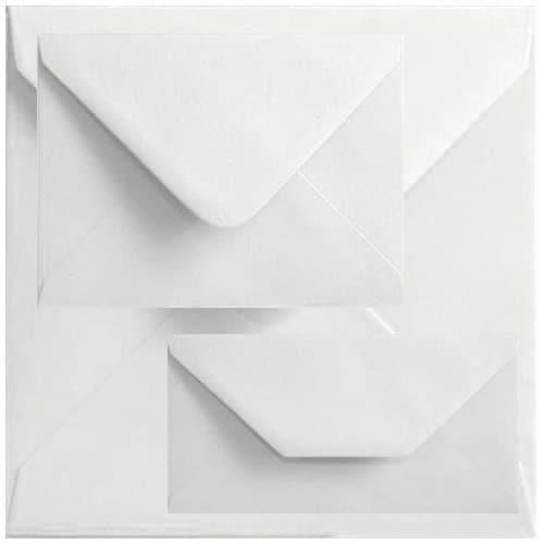 Box Of 1000 60mm x 90mm White Gummed Envelopes