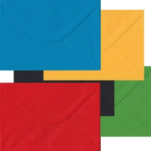 Olympic Pack Of 100 C5/A5 Peel/Seal Envelopes In Five Olympic Colours