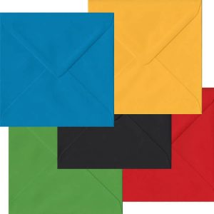 Olympic Pack Of 100 S4 Gummed Envelopes In Five Olympic Colours