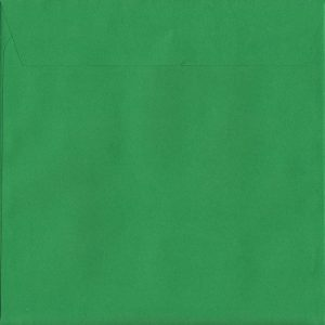 50 Large Square Green Envelopes. Holly Green. 220mm x 220mm. 120gsm paper. Extra Value MultiPack.
