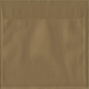 100 Square Shiny Gold Envelopes. Metallic Gold. 160mm x 160mm. 120gsm paper. Extra Value MultiPack.