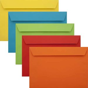 Premium Colour Pack Of 50 Vibrant C5 Peel/Seal Luxury 120gsm Envelopes